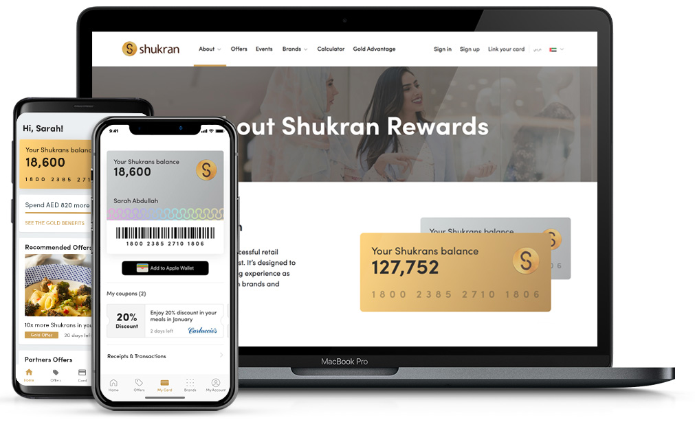 Explore the Shukran site and apps.
